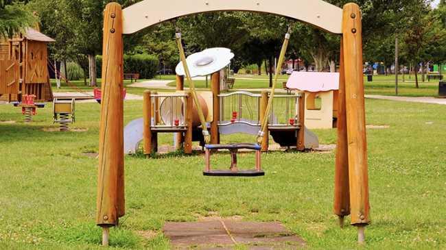 parco giochi legno