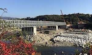 romagnano ponte provvisorio foto